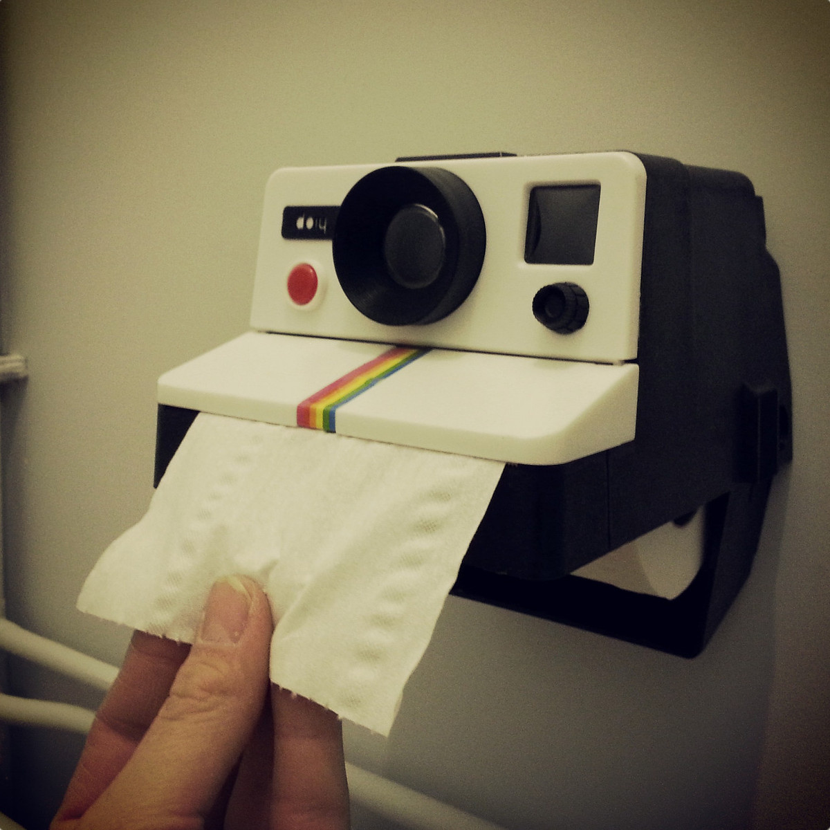 Polaroid Camera Toilet Paper Dispenser Stuff You Should Have
