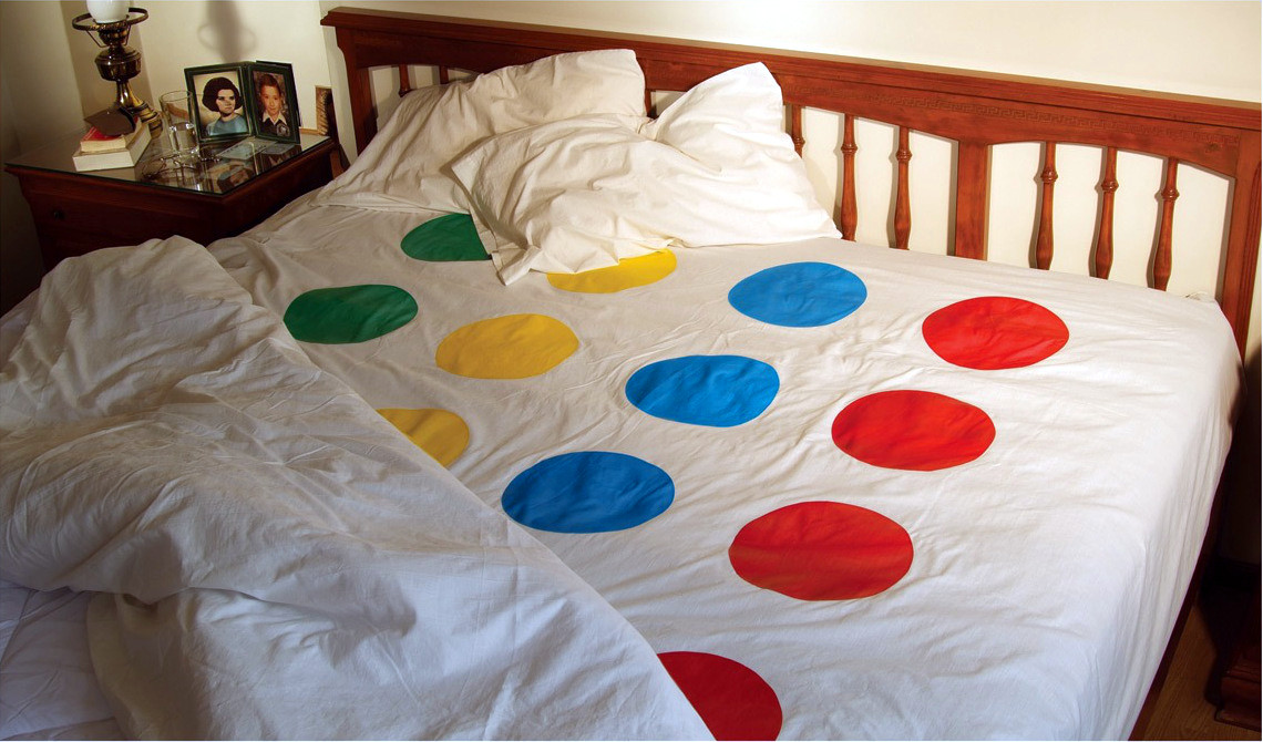 Twister Game Bed Sheets Queen