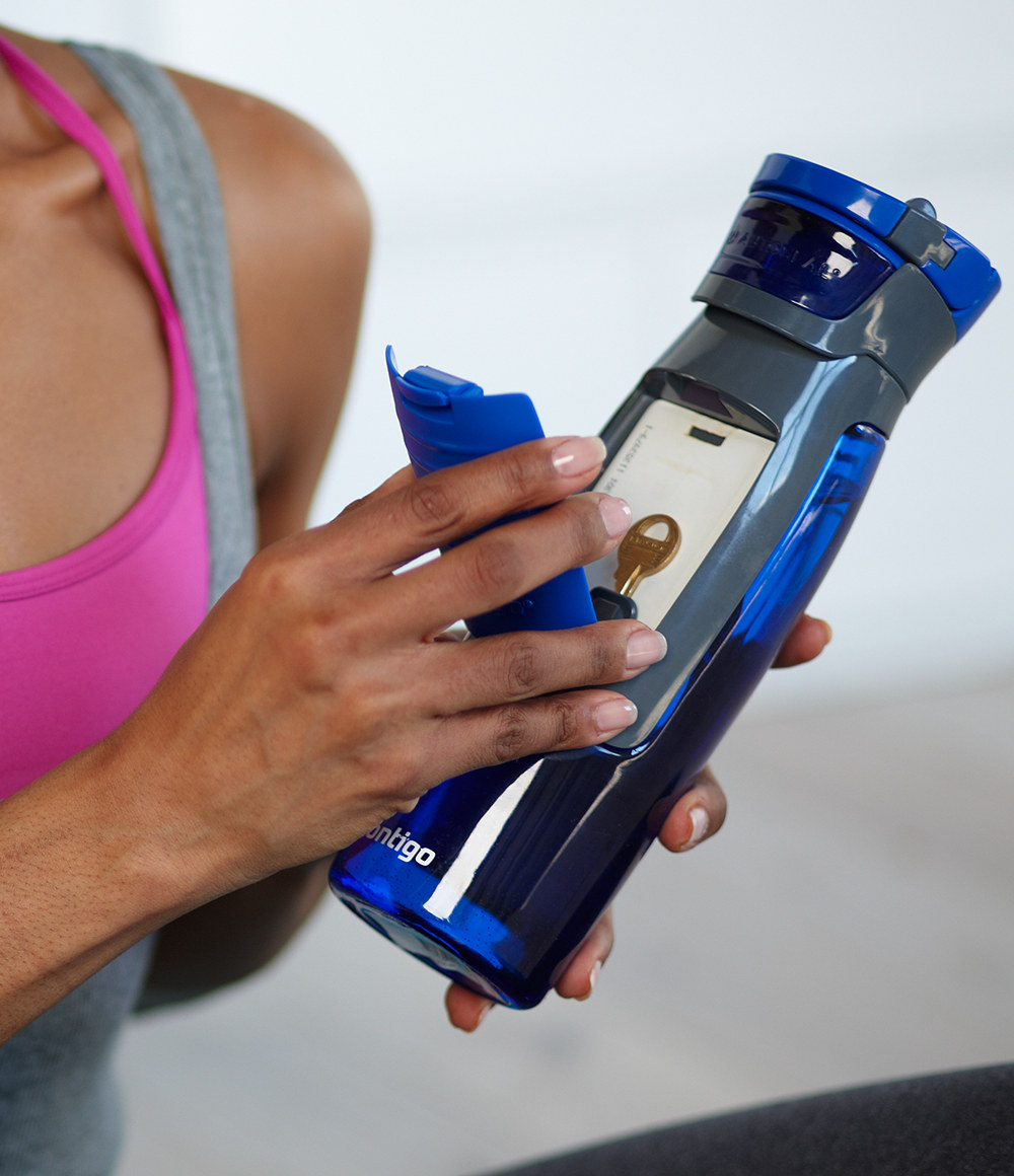 Sports Bottle With Storage Compartment: Water Bottle With Storage Compartment